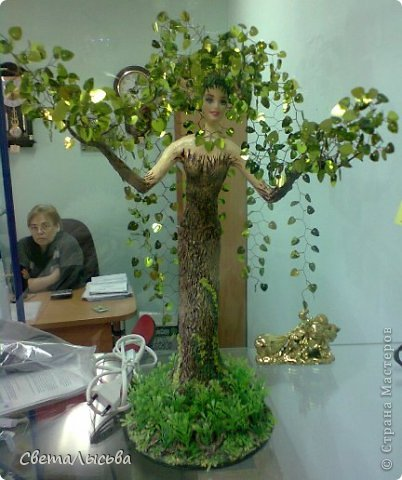 Дерево своими руками мастер класс папье-маше 90