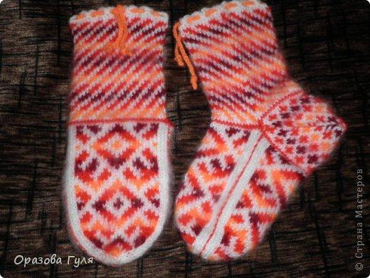 Теплые носки с орнаментом. Джурабы. фото 5
