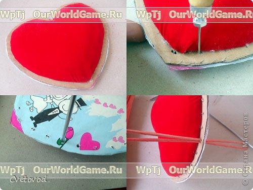 Шкатулка для швейных принадлежностей в виде сердца - оригинальный подарок на день Валентина и 8 марта. Сюрприз для рукодельницы фото 16
