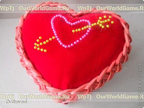 Шкатулка для швейных принадлежностей в виде сердца - оригинальный подарок на день Валентина и 8 марта. Сюрприз для рукодельницы фото 21