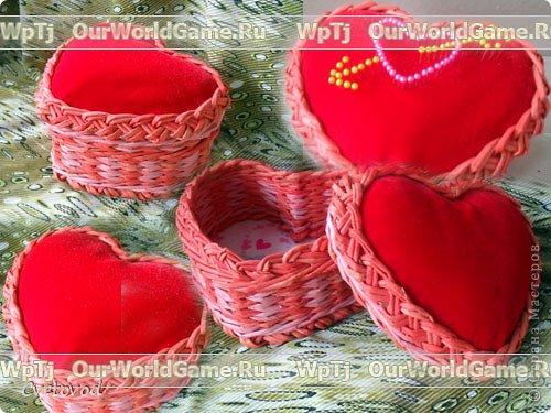 Шкатулка для швейных принадлежностей в виде сердца - оригинальный подарок на день Валентина и 8 марта. Сюрприз для рукодельницы фото 1