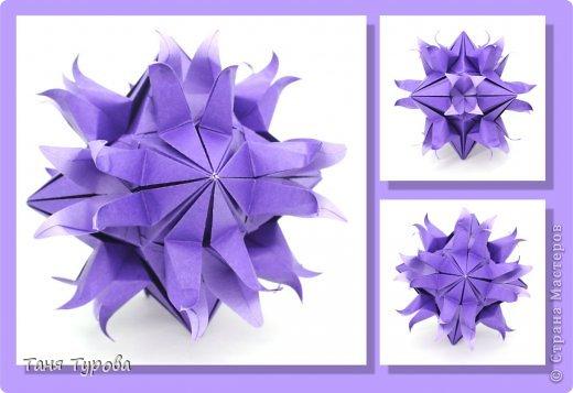 Привет!   Представляю вам МК кусудамы Sudden Flame и её вариации Sea Lilies by Aldo Marcell