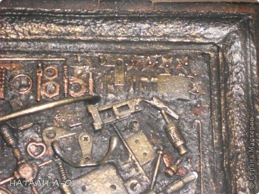 Поделка изделие 23 февраля Ассамбляж Стимпанк- ключница Материал бросовый фото 6