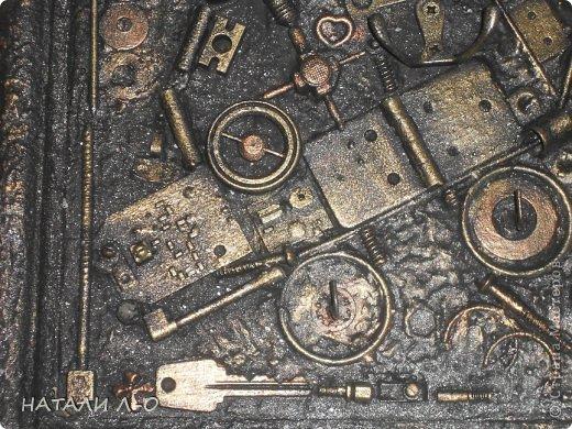 Поделка изделие 23 февраля Ассамбляж Стимпанк- ключница Материал бросовый фото 7