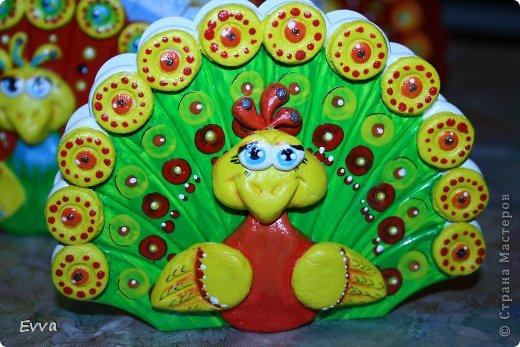 Декор предметов Поделка изделие 8 марта Лепка Роспись Павлины-салфетницы к 8 марта Мой опыт Краска Тесто соленое фото 7
