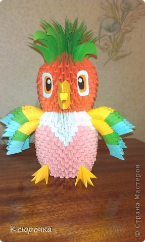 модульное попугай Кеша из