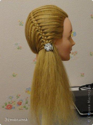 Мастер-класс Прическа Плетение Мини МК по ажурному плетению Волосы фото 7