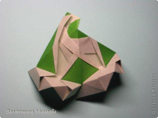 Кусудама Shalimar автор - Валентина Минаева (Valentina Minayeva) модули асимметричные, 60 штук соотношение 3,5 : 4 размер бумаги 5,0 х 6,0 см, итог - 10 см сборка с клеем (в пятерках модулей)  Инна, спасибо за название!  Вот здесь уже есть видео: http://www.youtube.com/watch?v=XCYXM-NuSUU&feature=youtu.be  фото 39
