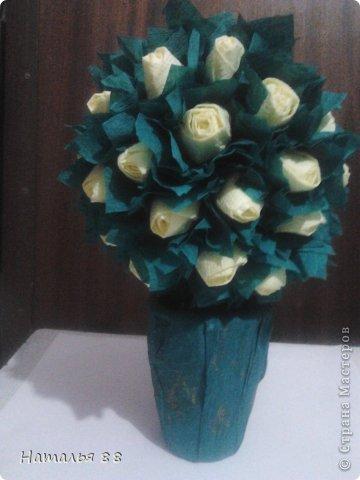 Мои первые розочки! Спасибо  marina_flora за МК https://stranamasterov.ru/node/173296#comment-6686271 !!!!!!!!!!!!!!!!!!!!   фото 1