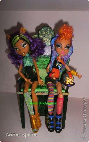 Кукольная жизнь Выпиливание мебель для кукол Монстер Хай Гуашь Дерево Ткань фото 3