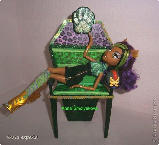 Кукольная жизнь Выпиливание мебель для кукол Монстер Хай Гуашь Дерево Ткань фото 4
