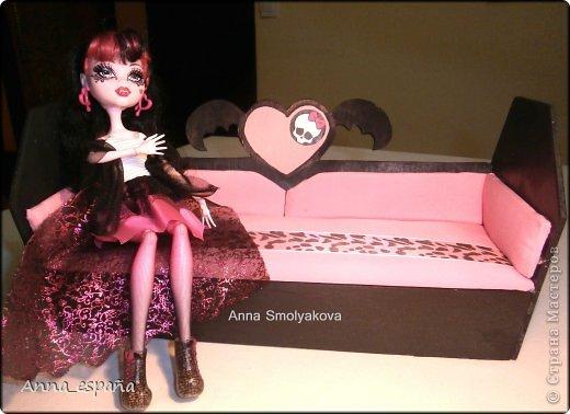 Кукольная жизнь Выпиливание мебель для кукол Монстер Хай Гуашь Дерево Ткань фото 6