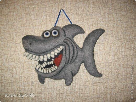 Эта акула сваляна под впечатлением от рыбки АЛБЫН, которая меня так вдохновила завести и себе такую же http://stranamasterov.ru/node/509776#comment-6596753. Спасибо!!!!! фото 4