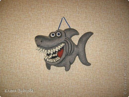 Эта акула сваляна под впечатлением от рыбки АЛБЫН, которая меня так вдохновила завести и себе такую же http://stranamasterov.ru/node/509776#comment-6596753. Спасибо!!!!! фото 3