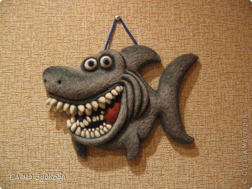 Эта акула сваляна под впечатлением от рыбки АЛБЫН, которая меня так вдохновила завести и себе такую же http://stranamasterov.ru/node/509776#comment-6596753. Спасибо!!!!! фото 2