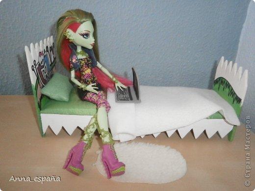 Кукольная жизнь Выпиливание мебель для кукол Монстер Хай Гуашь Дерево Ткань фото 8