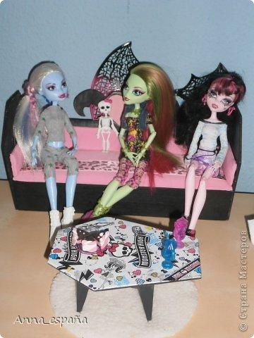 Кукольная жизнь Выпиливание мебель для кукол Монстер Хай Гуашь Дерево Ткань фото 10