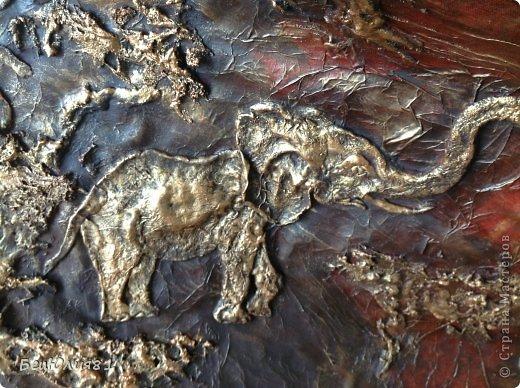 Картина панно рисунок Лепка ПАННО - АФРИКА 2м Х 0 9м Тесто соленое фото 2