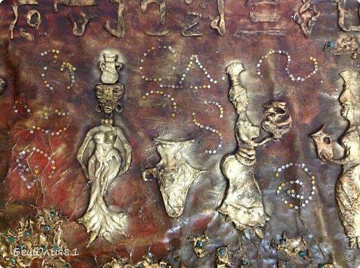 Картина панно рисунок Лепка ПАННО - АФРИКА 2м Х 0 9м Тесто соленое фото 14