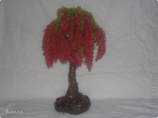 Поделка изделие Бисероплетение цветы и деревья Бисер фото 4.