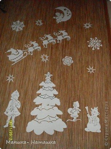 Поделка изделие Новый год Вырезание Вырезалочки в школу Бумага фото 1