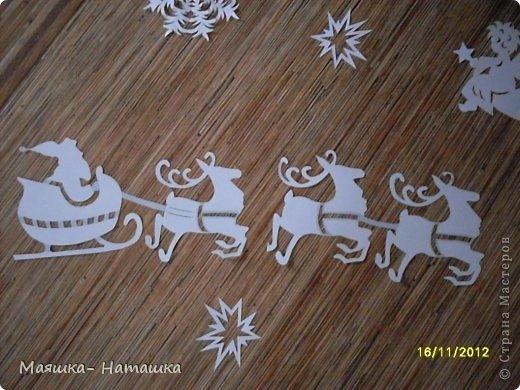 Поделка изделие Новый год Вырезание Вырезалочки в школу Бумага фото 4