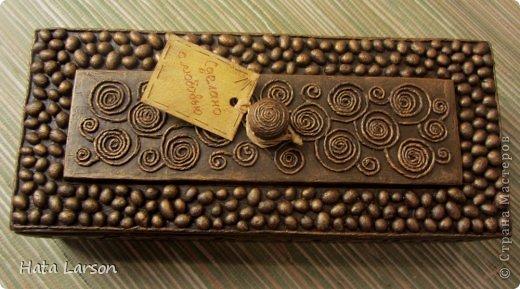 Шкатулки из кофейных зерен своими руками