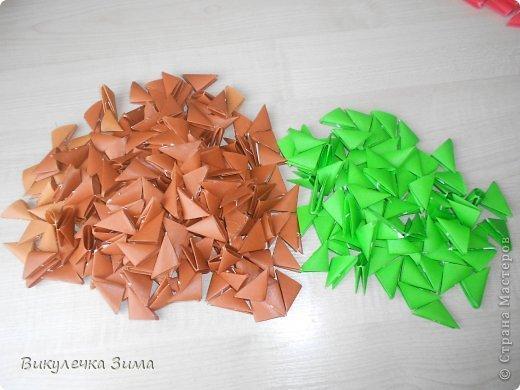 """Для """" Клубничного Лукошка"""" нам понадобятся: Модули корич. и зел. цвета. фото 1"""