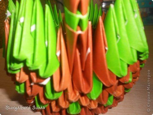 """Для """" Клубничного Лукошка"""" нам понадобятся: Модули корич. и зел. цвета. фото 15"""