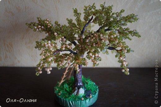 Бисероплетение Фруктовое дерево Бисер Гипс Проволока фото 1.