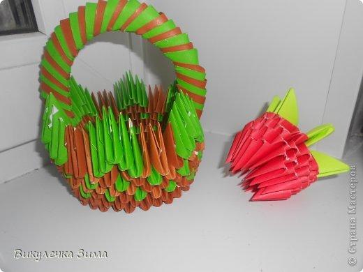"""Для """" Клубничного Лукошка"""" нам понадобятся: Модули корич. и зел. цвета. фото 22"""
