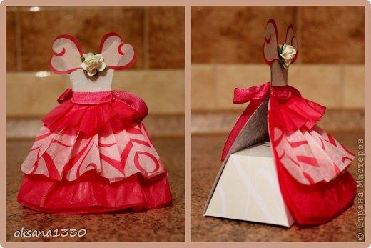 Упаковка 8 марта Моделирование конструирование Еще два платья пора остановиться Бумага