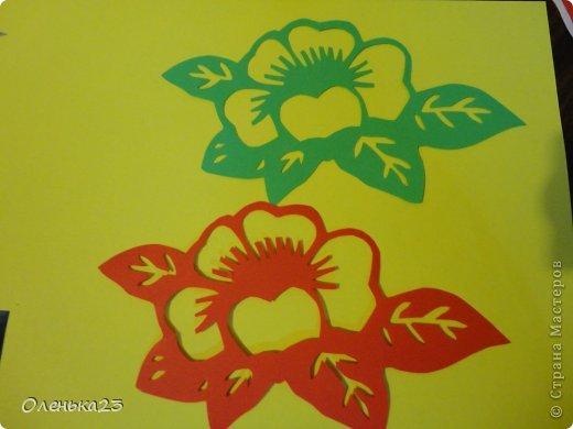 Поделка изделие 8 марта Аппликация Вырезание весна Бумага Клей фото 5