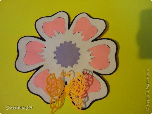 Поделка изделие 8 марта Аппликация Вырезание весна Бумага Клей фото 10
