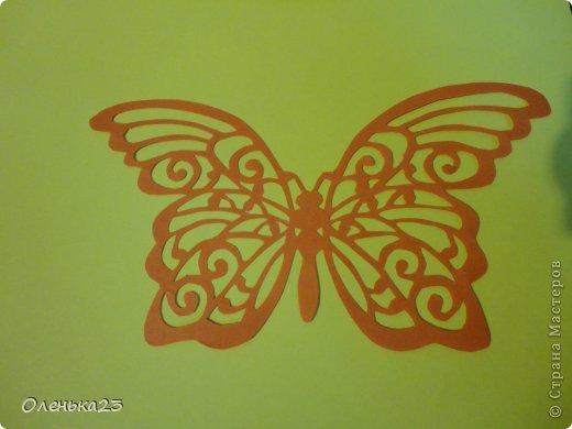 Поделка изделие Аппликация Вырезание мои бабочки повторюшки Бумага Клей фото 2