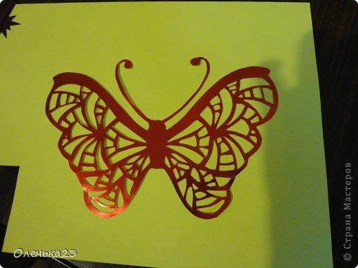 Поделка изделие Аппликация Вырезание мои бабочки повторюшки Бумага Клей фото 3