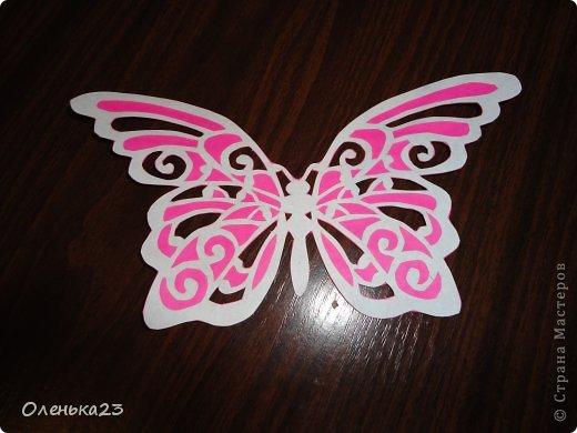 Поделка изделие Аппликация Вырезание мои бабочки повторюшки Бумага Клей фото 9