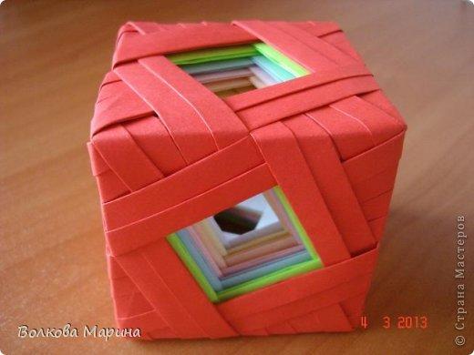 Поделка изделие Оригами Кубик-
