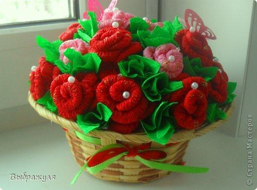 Поделки корзина с цветами своими руками