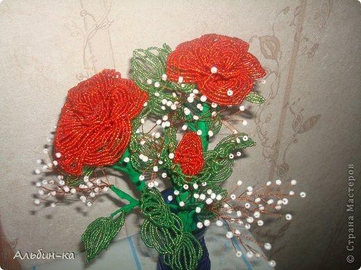 Поделка изделие 8 марта День матери День рождения Бисероплетение Цветы Бисер фото 5.