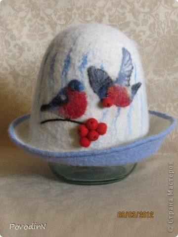 И ещё немного  банных шапок. фото 2