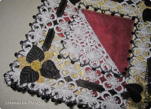 """Всем привет!!! Недавно одна моя знакомая, большая любительница ручной работы, привезла мне из Турции кружевную салфетницу """"HandMade"""" (на фото справа)...  фото 3"""