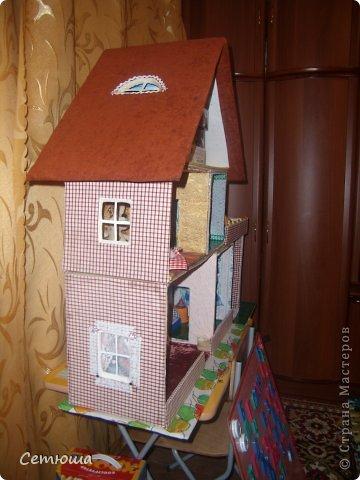 Мастер класс домик для кукол из коробки