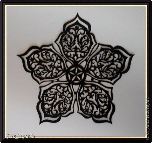 Картина панно рисунок Вырезание Цветок Бумага фото 1