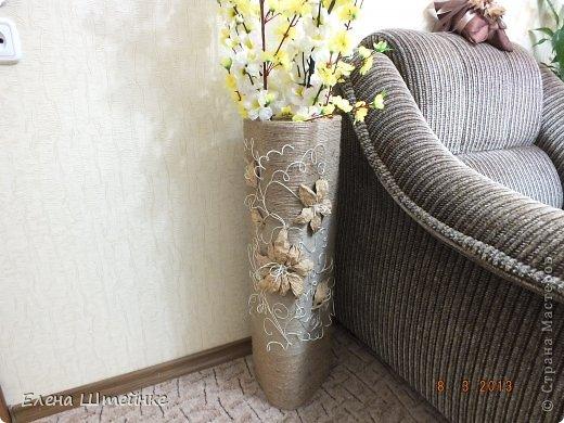Напольные ваза из шпагата своими руками