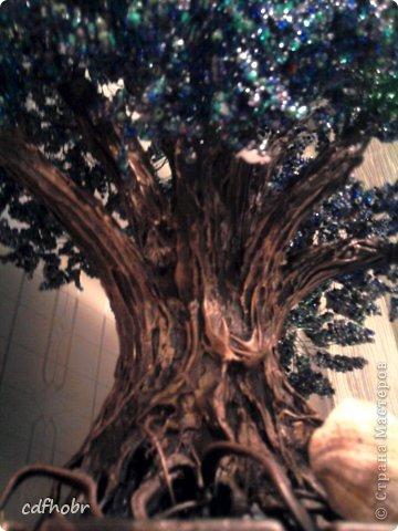 """Очень простой мастер-класс по созданию декоративного дерева из бисера: 1. Нефритовый дуб Дерево из бисера  """"Золотая..."""