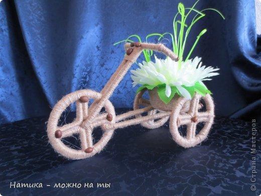 Не могла остаться равнодушной к велосипедам, тем более делаются они быстро и на одном дыхании)))   Огромное спасибо Sjusen за предоставленный мк https://stranamasterov.ru/node/505344?c=favorite   В данном велосипеде немного изменила колёса, попробовала сделать просто из картона))) фото 5