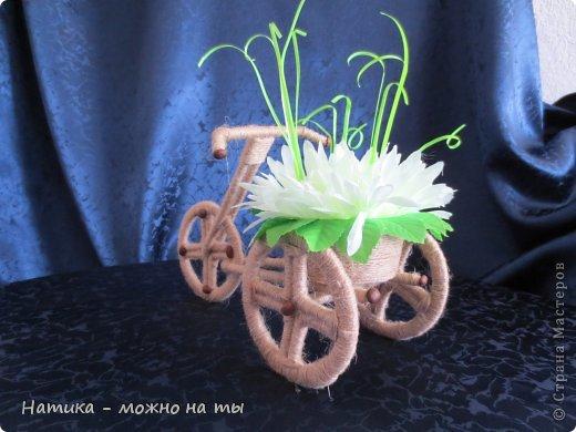 Не могла остаться равнодушной к велосипедам, тем более делаются они быстро и на одном дыхании)))   Огромное спасибо Sjusen за предоставленный мк https://stranamasterov.ru/node/505344?c=favorite   В данном велосипеде немного изменила колёса, попробовала сделать просто из картона))) фото 6