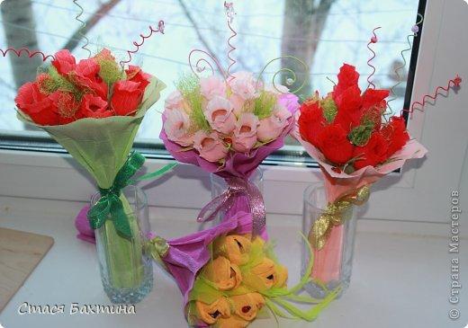 вот такой вот цветник появился у меня дома перед 8 марта =) все цветочки сделаны на заказ =) фото 1