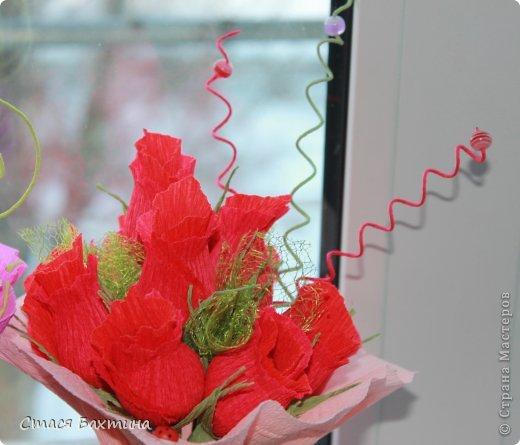 вот такой вот цветник появился у меня дома перед 8 марта =) все цветочки сделаны на заказ =) фото 2